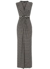 MUST HAVE SUMMER! Deep v, accentuated waist. Flattering horizontal stripes!