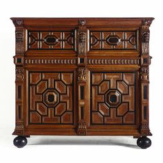 A Dutch oak, ebony and rosewood cupboard or 'Zeeuwse kast' Renaissance, 17th century - Sotheby's