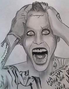 Joker drawing from suicide squad.