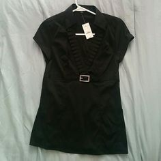 Express black blouse work fashion NWT Express black blouse,  NWT. Perfect for the office! Express Tops Blouses