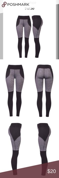 Popfit Penelope Slim Fit Leggings, Large Size: Large Penelope Slim Fit leggings. The color blocking on the leg has the over the knee effect. Open mesh overlay.  * POP Fit Classic Back will shape & lift your butt * Breathable, quick-dry fabric that stays in shape wash after wash. * Flat Lock Seams on every stitch, no itch & no chaffing * Flattering fit that hugs you in all the right places * Leggings will not slip or sag * Stylized lines to contour your body Fit: * Designed for all day wear…