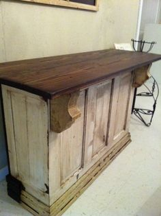 Old door bar diy projects 50 new ideas Furniture Projects, Furniture Makeover, Home Projects, Diy Furniture, Repurposed Furniture, Painted Furniture, Door Bar, Into The Woods, Primitive Kitchen