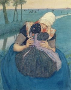Mother and Child - Charles William Bartlett