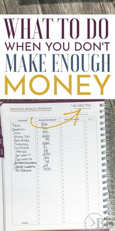 Income Problem: What to Do When You Don't Make Enough Money. - The Busy Budgeter - Finance tips, saving money, budgeting planner Ways To Save Money, Money Tips, Money Saving Tips, Money Budget, Groceries Budget, Save Money On Food, How To Manage Money, Best Saving Plan, Budget Help