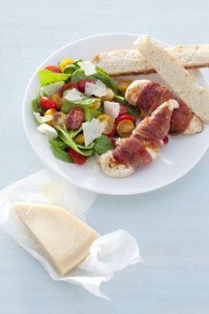 Recept voor kip met parmaham en spinaziesla