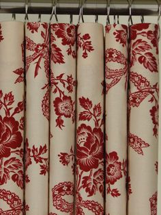 red and tan shower curtain. Red  Beige Floral Shower Curtain 72 LONG 119 99 via Etsy Fabric Leaves White Modern Design Tan Black