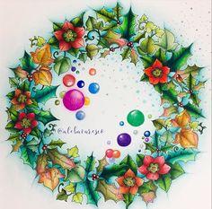 Johanna Basford - Johanna's Christmas; Nov 2016 #johannabasford #johannaschristmas #adultcoloring
