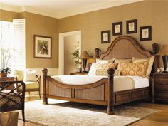 TOMMY BAHAMA HOME ISLAND ESTATE QUEEN-SIZE ROUND HILL BED WITH WOVEN PANEL INSERTS AT JOHNNY JANOSIK