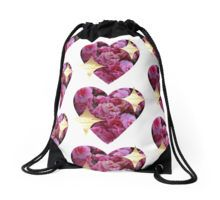 sparkly heart emoji Drawstring Bag