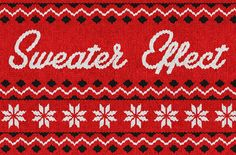 Christmas Sweater Effect by Designer Toolbox on Creative Market