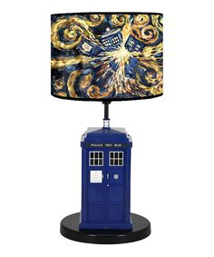 Doctor Who Flashing TARDIS Pattern Table Lamp: Doctor Who Explode Tardis Table Lamp with Sound. This quality lamp measures by by inches. A great gift for the fan you know!