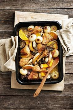Hoender met botterskorsie en eiervrug | Chicken with butternut and eggplant