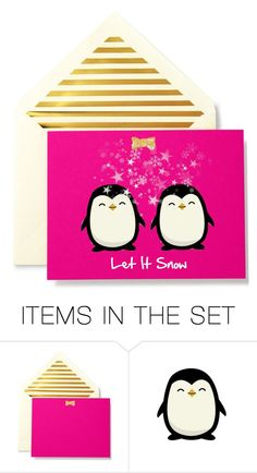"""Let it Snow"" by fassionista ❤ liked on Polyvore featuring art and holidaycard"