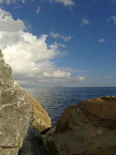 rocks by Marina di Campo, Elba Island, Italy