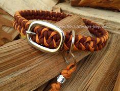 Hundehalsband verstellbar mit Schnalle, Paracord Hundehalsband