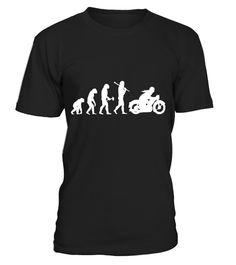 Funny Vintage Motorcycle Motorbike Bikie Evolution T-Shirt