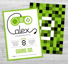 Video Game Invitation  Game Truck Party by WLAZdesignSHOP on Etsy