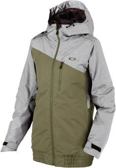 £117 Oakley Quebec Insulated Women's Snowboard/Ski Jacket, XS, Worn Olive