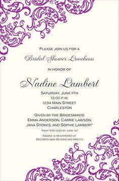 Rococo Violet Invitations