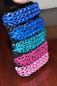 Phone covers. | The 30 Most Important Rainbow Loom Accomplishments Of 2013