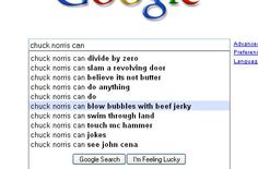 Chuck Norris can ...