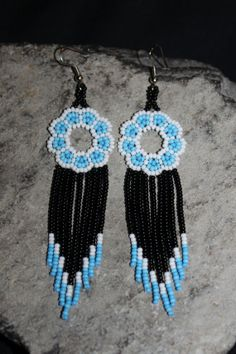 Huichol Peyote Beaded Earrings