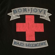 Bon Jovi Concert Tour Shirt S Bad Medicine The Boys are Back Black Jon  #Hanes #GraphicTee