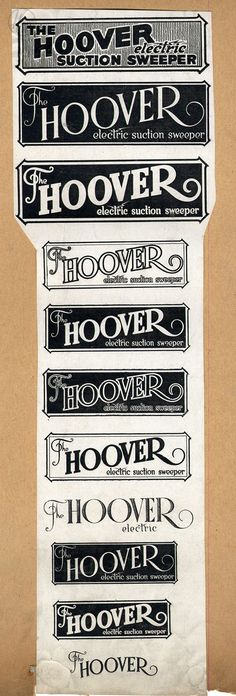 We had a logo for every occasion. #hoover #vintagelogos