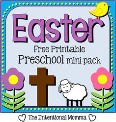 Free Easter Printable Preschool Pack | Free Homeschool Deals ©