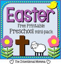 Free Easter Printable Preschool Pack | Free Homeschool Deals ©