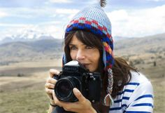 Helena Christensen in Peru. I love that she's shooting with the Pentax, medium format film.