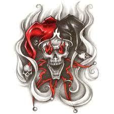 Showing > It the Evil Clown Joker Evil Clown Tattoos, Skull Tattoos, Joker Tattoos, Tatoos, 4 Tattoo, Tattoo Drawings, Tattoo Flash, Evil Clowns, Scary Clowns