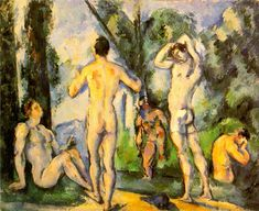 paul cezanne the large bathers | 1890-91 (130 Kb); Oil on canvas, 54.2 x 66.5 cm (21 3/8 x 26 1/8 in ..