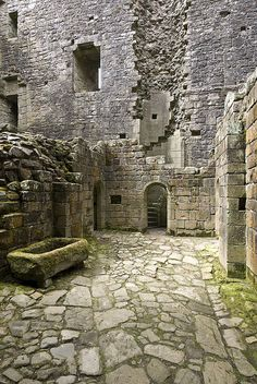 "Hermitage Castle, Scotland (Lots of pictures. Photographer says, ""Despite the ruins, so much of Hermitage remains intact. The sense of history about the place is palpable..."