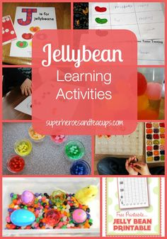 Jellybean learning activities that you can do with your child.