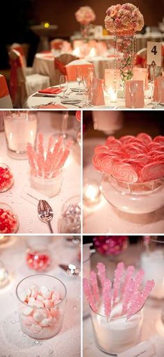 Halekulani Hotel adorned in pink, peach and white wedding details, including a candy bar. local-wedding-inspirations