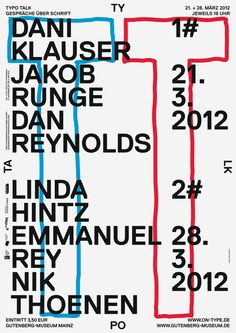 ON TYPE Texte zur Typografie, poster submitted and designed by Ma...