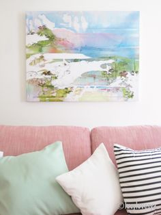 Jessica Zoob Print pink sofa
