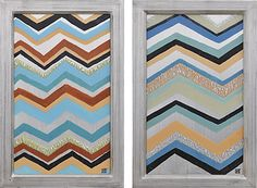 Ren-Wil Helsinki Wood Framed Painting Hand-painted over mirror, this trendy chevron pattern brings interior design and fine art together in a most pleasing way. Chevron, Art Of Living, Helsinki, Painting Frames, Wall Art Decor, Framed Artwork, Home Accessories, Picture Frames, Original Paintings