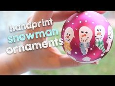 Handprint Snowman Ornaments | DIY Christmas Decorations on a Budget - YouTube