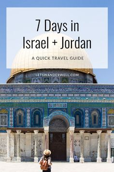 Ready for a trip to Israel and Jordan? Here's your quick travel guide to a week in Tel Aviv, Jerusalem and Petra. Experience the ancient history of the Holy Land, the UNESCO heritage site of Petra and modern-day Israel in 7 days. Tel Aviv, Samara, Wadi Rum, Voyage Israel, Israel Holidays, Petra Tours, Jerusalem Travel, Israel Travel, Israel Trip