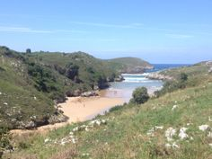 Poo Beach in Llanes. Asturias and the northern coast of Spain