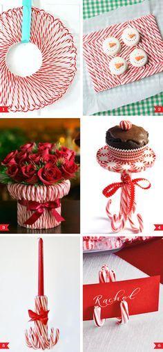 Candy cane party decor ideas | Chickabug
