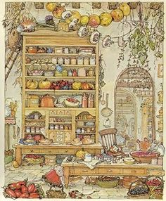 Brambly hedge art, my favorite stories from my childhood