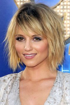 Dianna Agron's edgy look with bangs