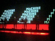 Repetitive Typography,    Kraftwerk - Man Machine 2004 Tour