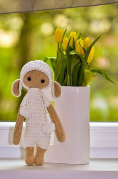 Crochet lalylala sheep  lamb doll by PaniJani on Etsy