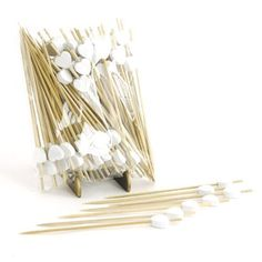 "BambooMN Brand - Decorative Heart Bamboo Picks 3.9"" (10cm) - 300 pcs, White by BambooMN. $17.88"