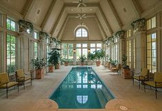 Indoor pool in North Central Texas.