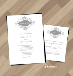 Pin for Later: 72 Beautiful Wedding-Invite Printables to Download For Free! Beautiful Wedding Monogram Invitation The perfect monogram wedding invites for an elegant wedding. Source: Printable Invitation Kits
